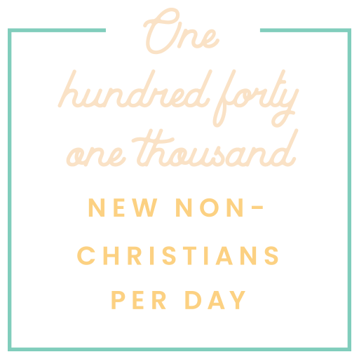 141 thousand new non-christians per day
